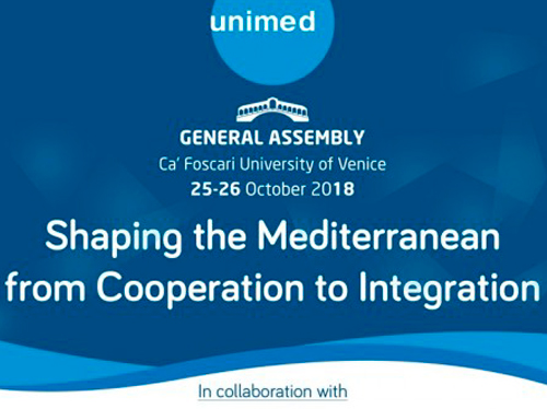 GENERAL ASSEMBLY 2018 – Shaping the Mediterranean: From Cooperation to Integration
